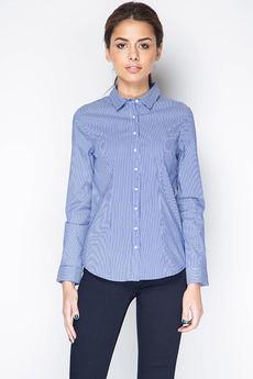 Женская рубашка в синюю полоску Marimay