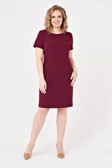 Бордовое платье-футляр Angela Ricci