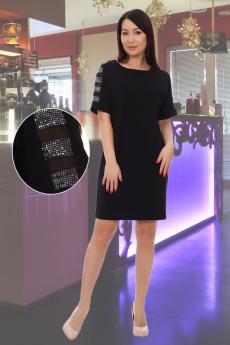Нарядное черное платье прямого силуэта Натали